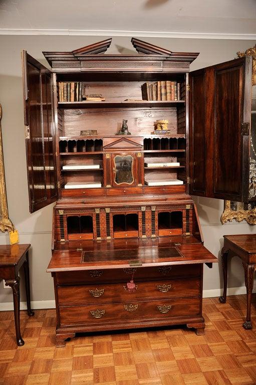 Irish Mahogany Georgian Bureau Bookcase At 1stdibs
