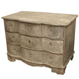 19th Century Painted Danish Serpentine Commode