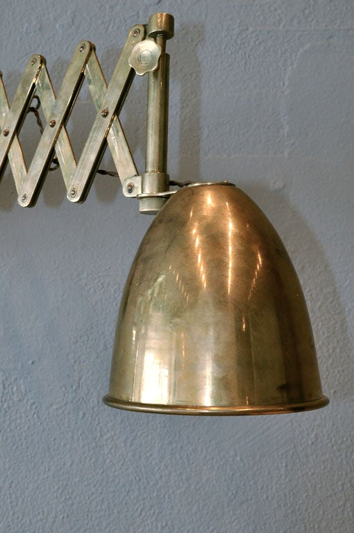 Wall Extension Lamps : BRASS EXTENSION LAMP FROM ANTWERP at 1stdibs