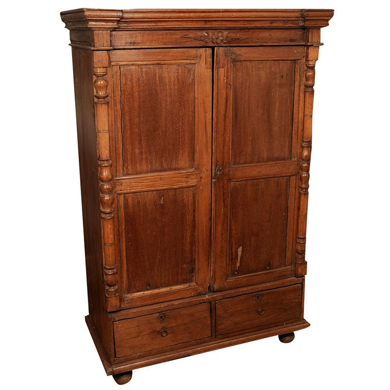 teak french colonial armoire at 1stdibs. Black Bedroom Furniture Sets. Home Design Ideas