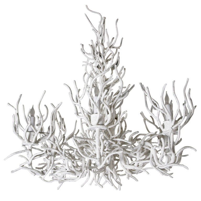 Large Faux Coral Chandelier at 1stdibs – Coral Chandelier