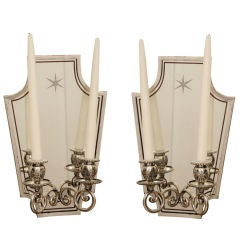 Mirrored Back Wall Sconces 'Sold as Pair'