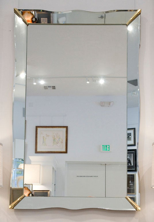Vintage Mirror Framed Mirror With Beveled Edge At 1stdibs