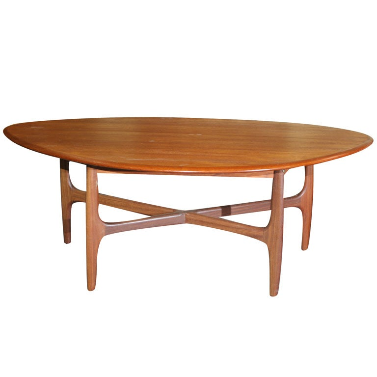 Atomic Era Teak Organic Coffee Table At 1stdibs