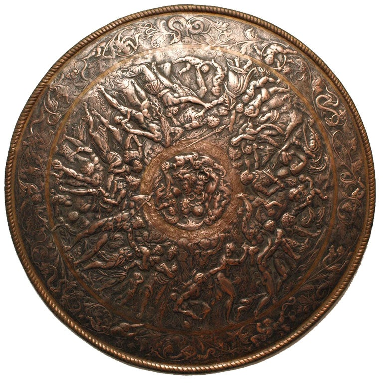 German Ornamental Bronze Shield At 1stdibs