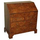 Early 18th century English walnut slant front desk.
