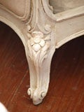19th c. French Daybed with Belgian Linen thumbnail 7