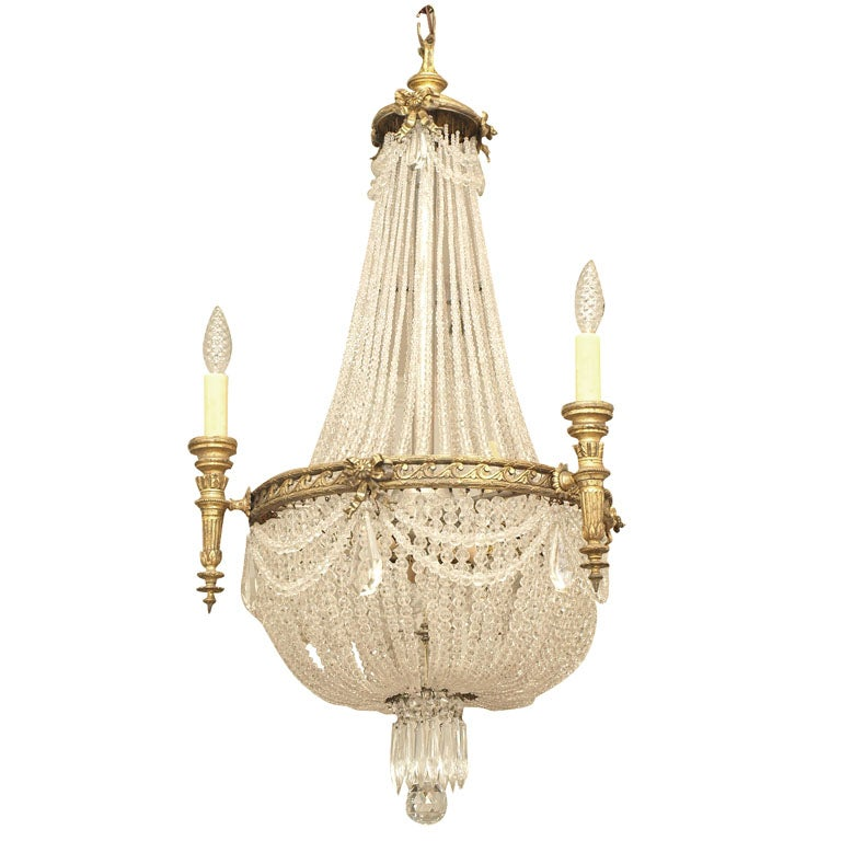 Late 19th Century French Empire Chandelier at 1stdibs – French Empire Chandelier