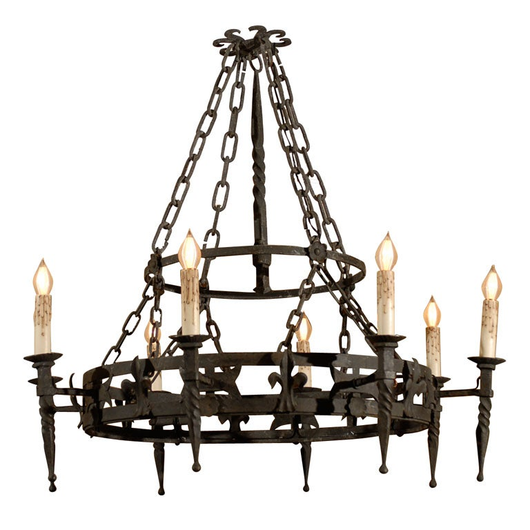 Red Aesthetic Chandelier: Iron Chandelier At 1stdibs