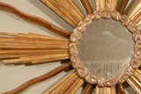 Very Unique Large-Scaled Italian Giltwood Starburst Mirror thumbnail 5