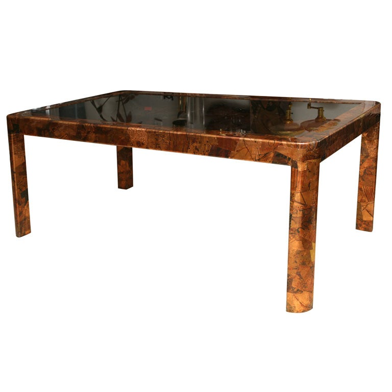 Pieced Copper Dining Table At 1stdibs