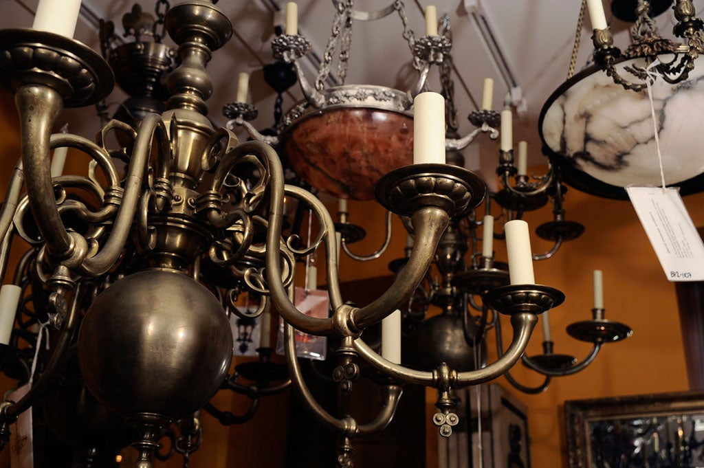 An 8 light dutch baroque style chandelier at 1stdibs for Dutch baroque architecture