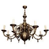 An 8-Light Dutch Baroque Style Chandelier