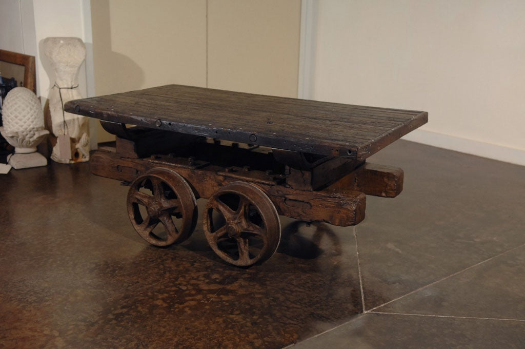 Antique Rail Cart Coffee Table At 1stdibs
