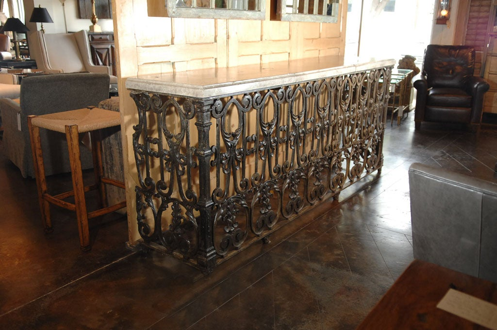 Antique balcony console at 1stdibs for Balcony console