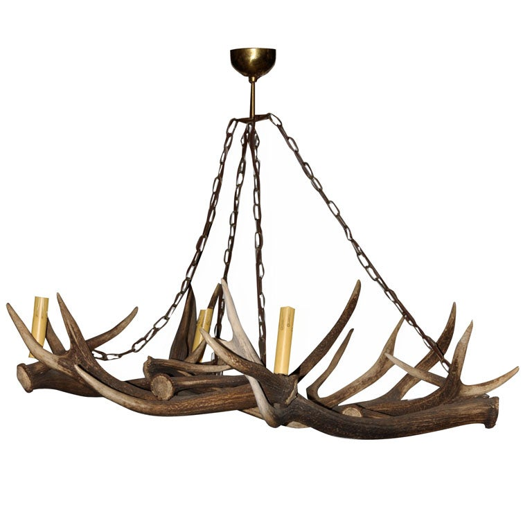 Deer Horn Chandelier For Sale At 1stdibs