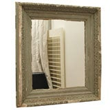 Antique Chippy Hand-Carved Wall Mirror