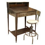 Industrial Metal Work Desk with Swivel Chair