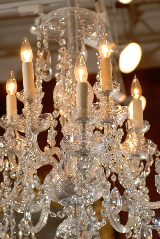 Waterford Style All Crystal Chandelier 3