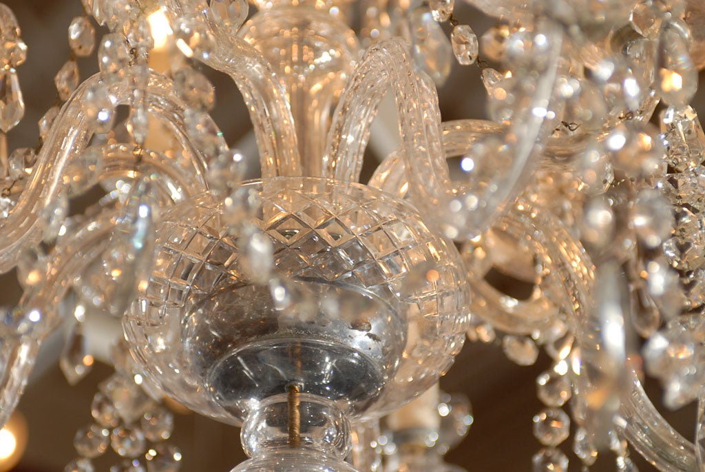 Waterford Style All Crystal Chandelier 8