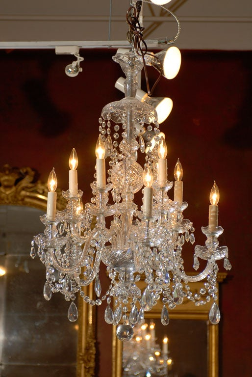 Waterford Style All Crystal Chandelier 10