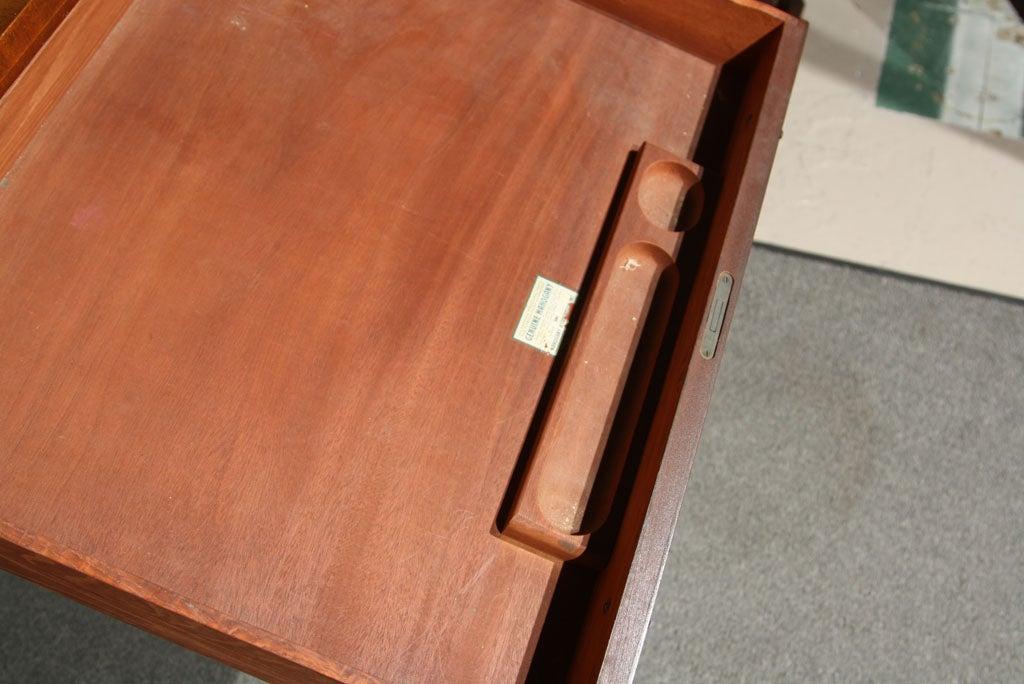 Mahogany Carlton House Banded Desk 1