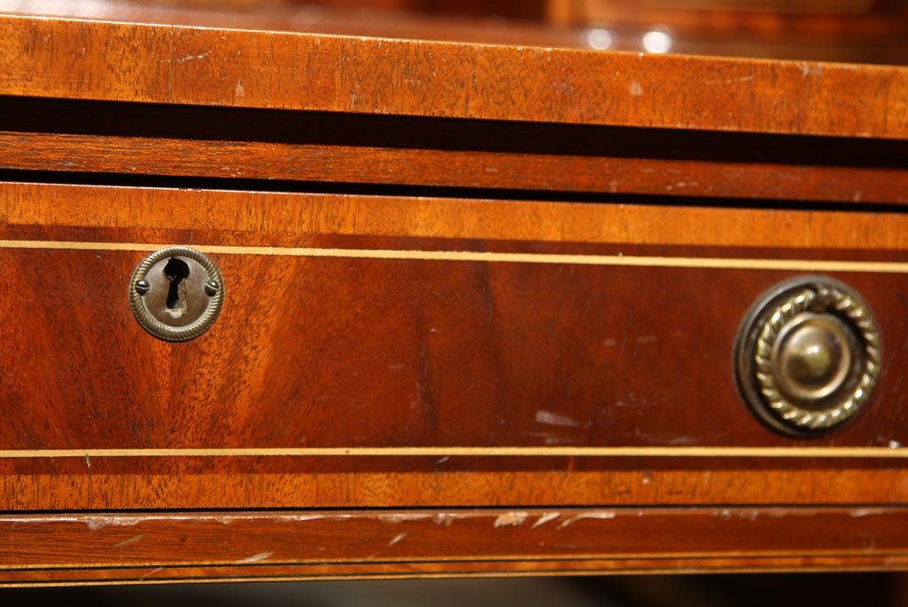 Mahogany Carlton House Banded Desk 2