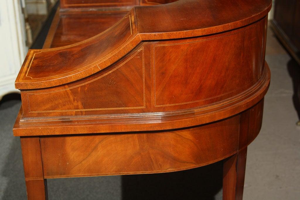 Mahogany Carlton House Banded Desk 3