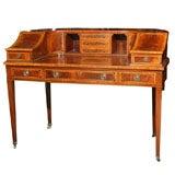 Mahogany Carlton House Banded Desk
