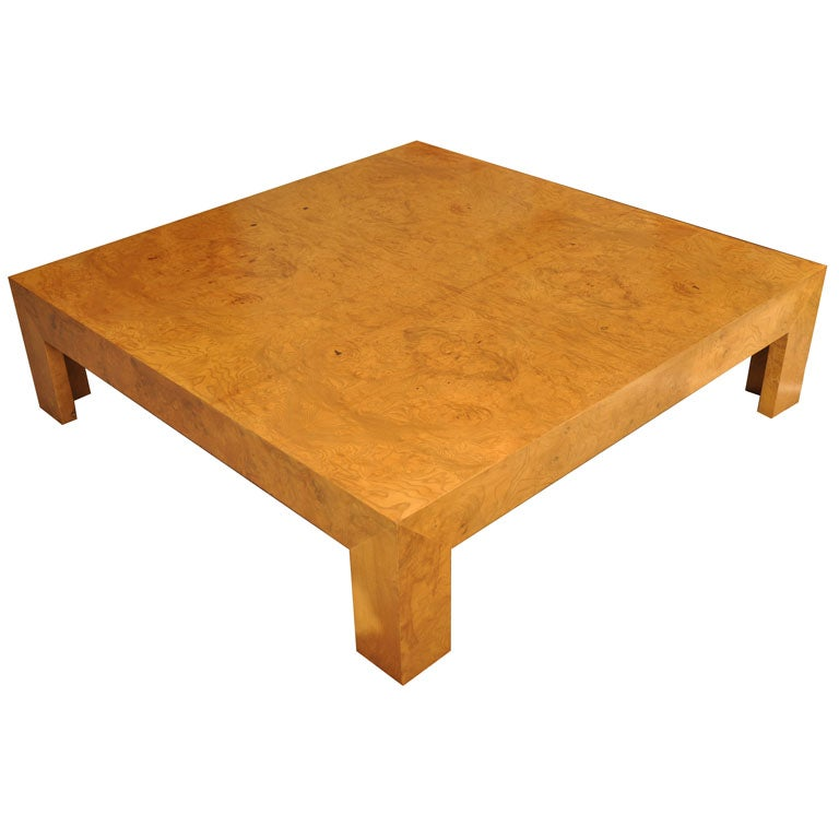 Monumental Coffee Table By Milo Baughman For Directional At 1stdibs
