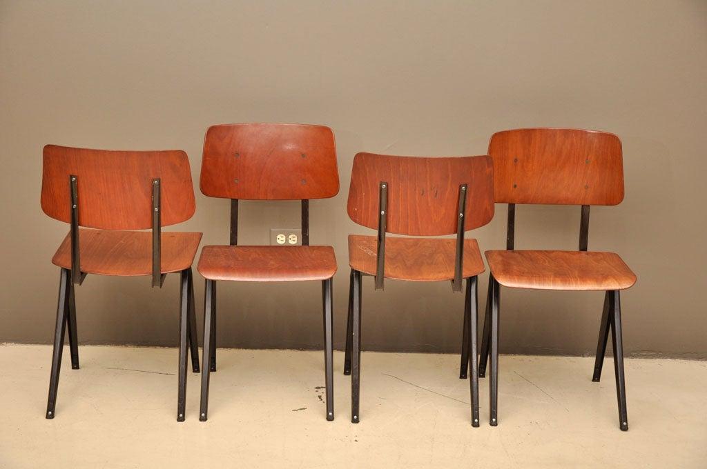 Set of 8 vintage dutch dining chairs friso kramer style at 1stdibs - Kamer dining ...