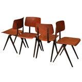 Set Of 8 Vintage Dutch Dining Chairs- Friso Kramer Style