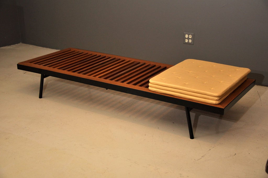 Outdoor teak and steel daybed bench at 1stdibs Daybed bench