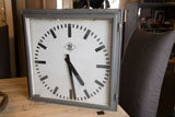 Great old industrial square clock thumbnail 6
