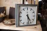 Great old industrial square clock thumbnail 9
