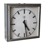 Great old industrial square clock thumbnail 1