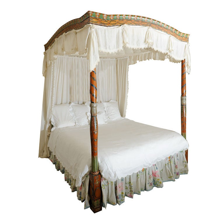 antique painted satinwood domed canopy bed at 1stdibs