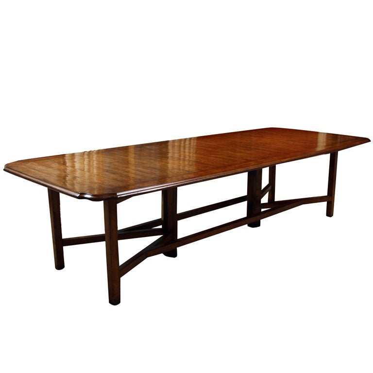 HOLLY HUNT WALNUT EXTENSION DINING TABLE at 1stdibs : x from www.1stdibs.com size 768 x 768 jpeg 33kB