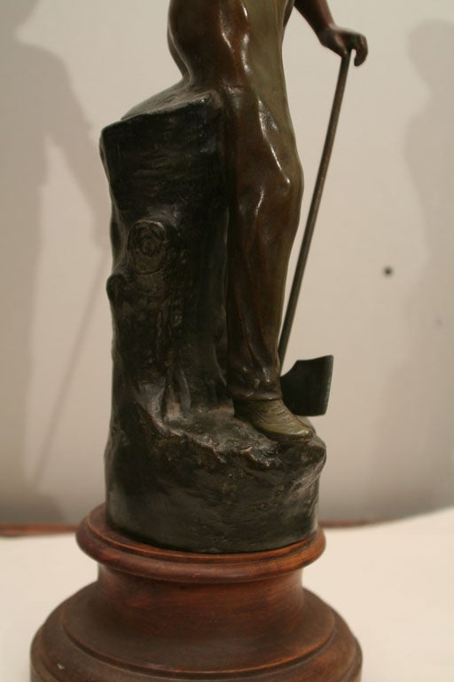 Polychromed Spelter Figure of Woodsman by A. Rucho image 4