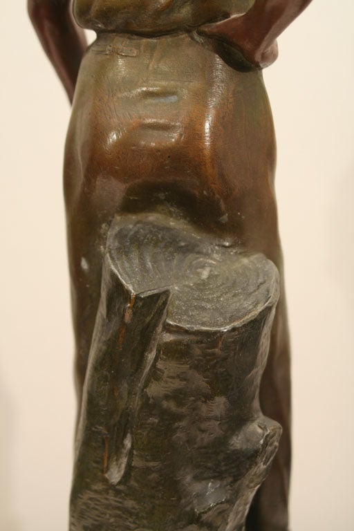 Polychromed Spelter Figure of Woodsman by A. Rucho image 7