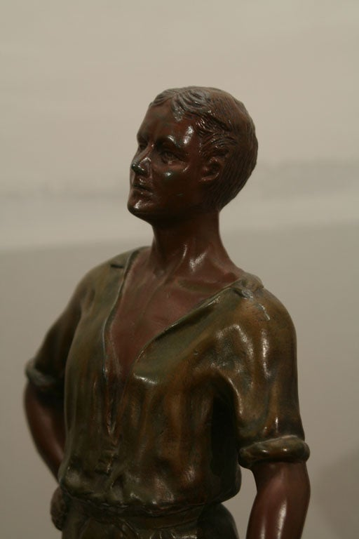 Polychromed Spelter Figure of Woodsman by A. Rucho image 9