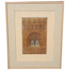 Middle Eastern Framed Relief