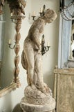 Composite Stone Garden Statue of a Lady taking her Bath image 2