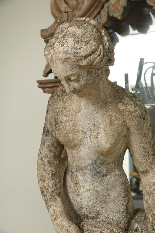 Composite Stone Garden Statue of a Lady taking her Bath 7