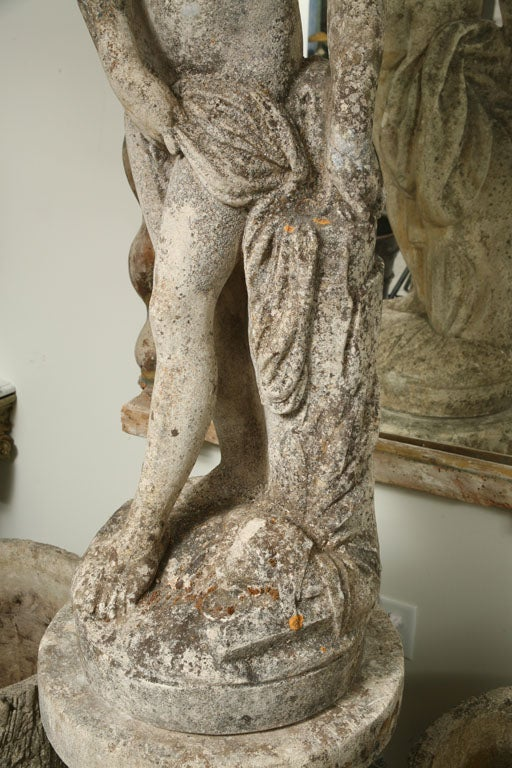 Composite Stone Garden Statue of a Lady taking her Bath For Sale 3
