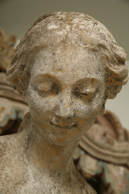 Composite Stone Garden Statue of a Lady taking her Bath 10