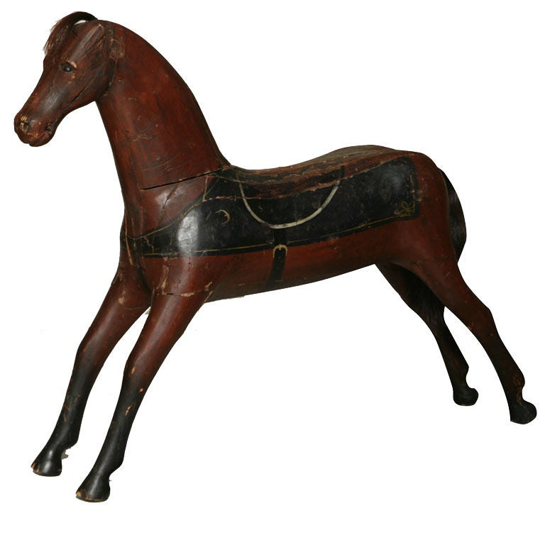 Painted Wooden Toy Horse