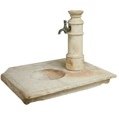 Directoire White Marble Wash Basin