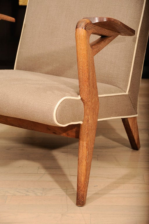 American Pair of Parker Knoll Armchairs For Sale