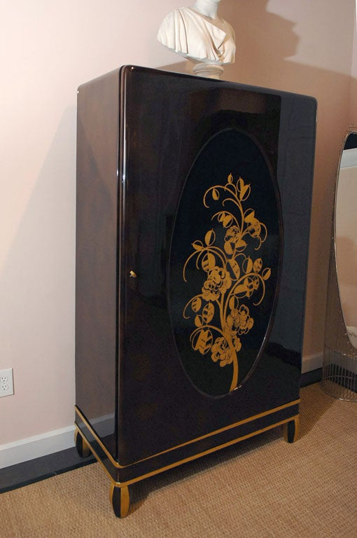 Lacquered cabinet by michel dufet 1930s for sale at 1stdibs for 1930s kitchen cabinets for sale